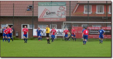 In der sechsten Minute klingelt es zum ersten mal im Kasten des TSV Ganderkesee. Torschütze: Timo Richter.